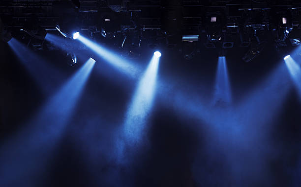 Stage lights Stage lights at concert. stage light stock pictures, royalty-free photos & images