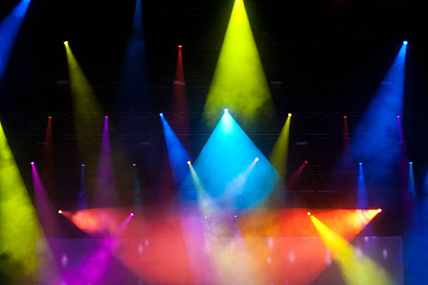stage lights - disco lights stock photos and pictures