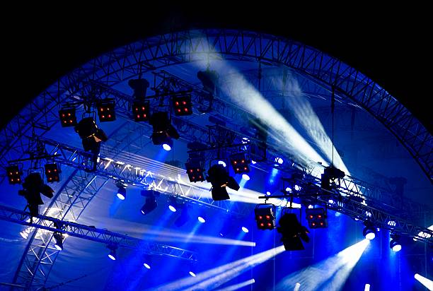 stage lights - saturated color stock pictures, royalty-free photos & images