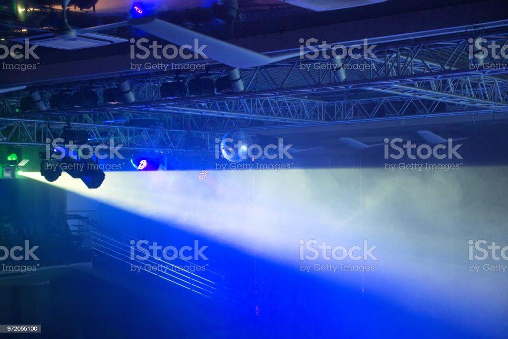 Stage lights. Soffits. Concert light stock photo