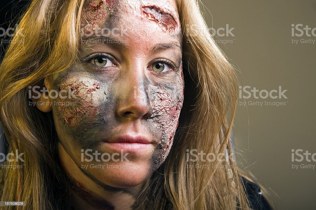 Stage make up stock photo