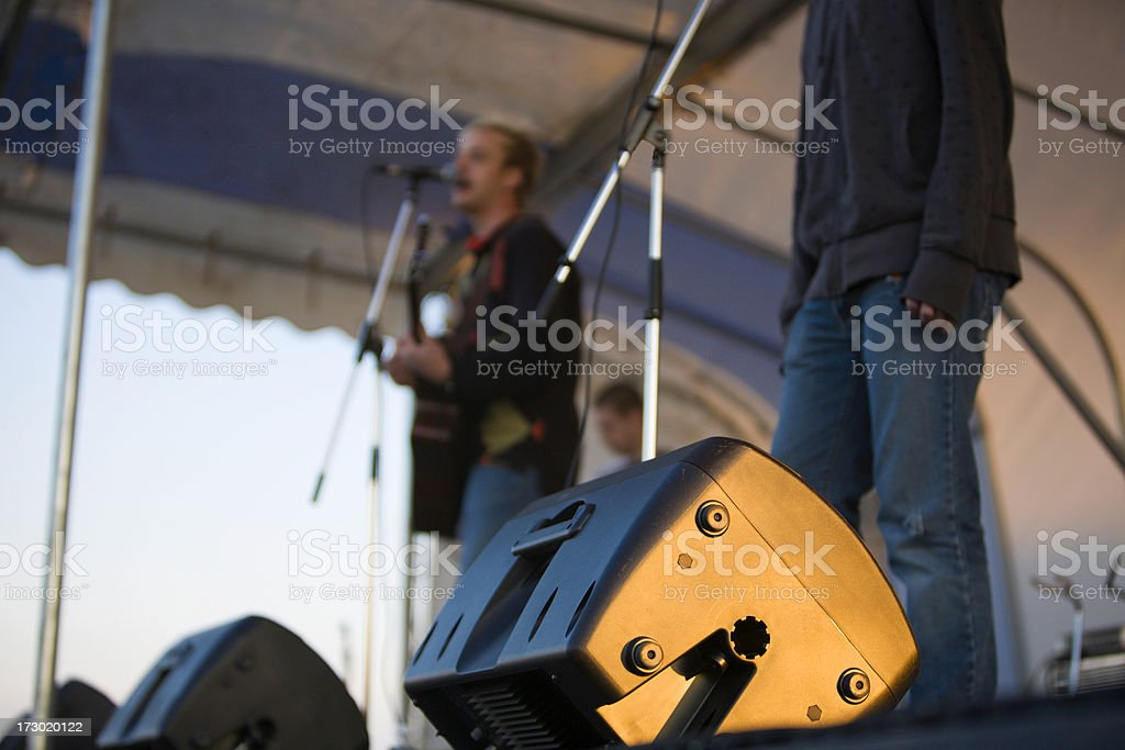 Stage Monitors stock photo