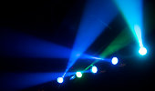 Stage multicolored lighting