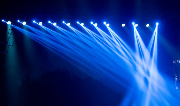 stage multicolored lighting - stage light stock pictures, royalty-free photos & images