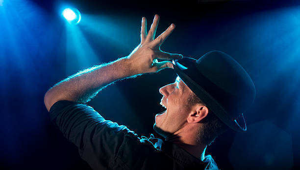 Bühne Performer in Lights – Foto