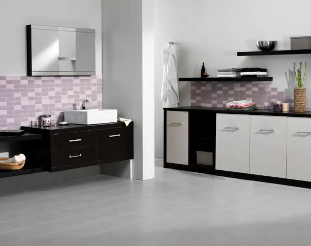 bühne bad - badezimmer new york style stock-fotos und bilder