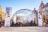 istock Stage setting in Porto city square for a festival 528476516