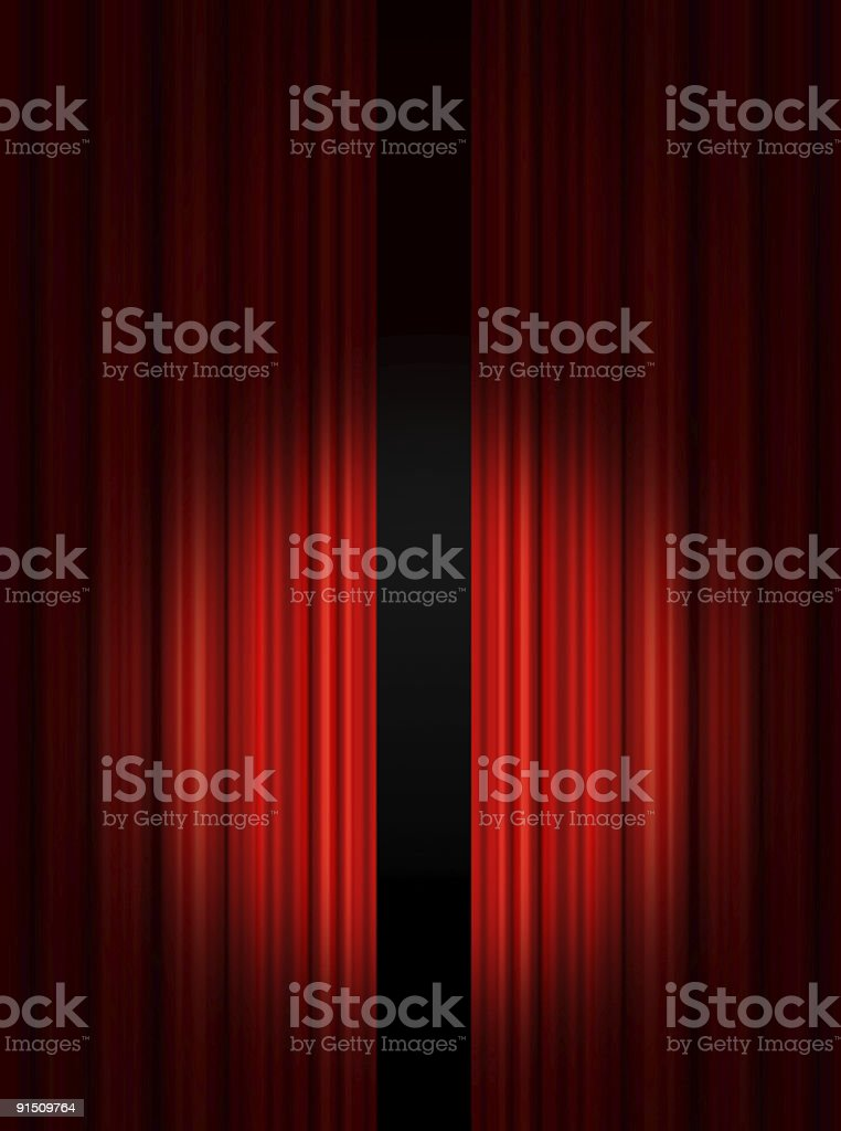 Stage show stock photo