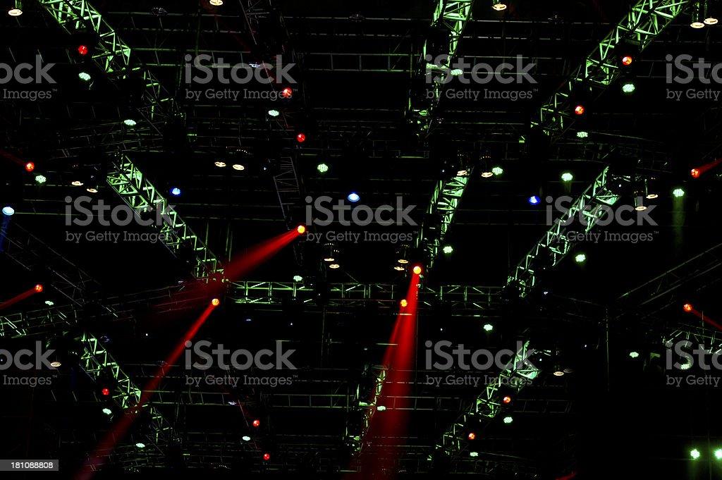 Stage Spotlight Beams royalty-free stock photo