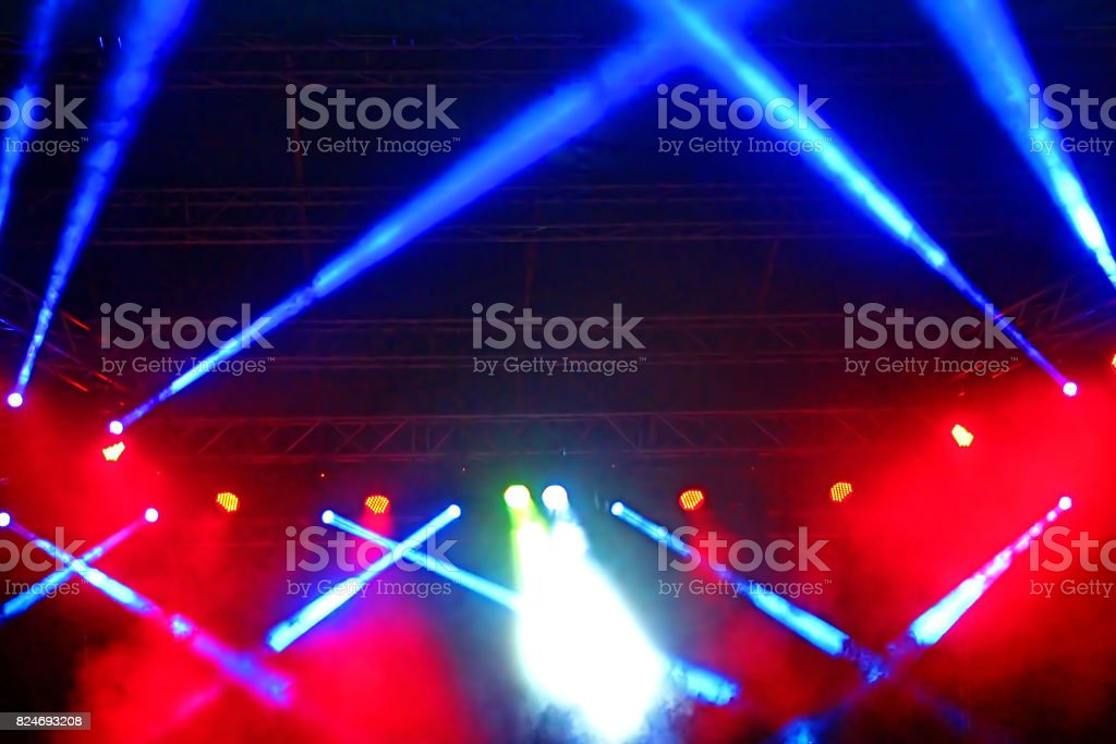 Stage Spotlight With Rays Concert Lighting Background Royalty Free Stock Photo