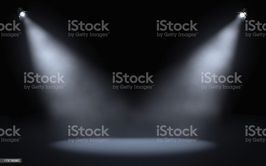 stage spotlights royalty-free stock photo