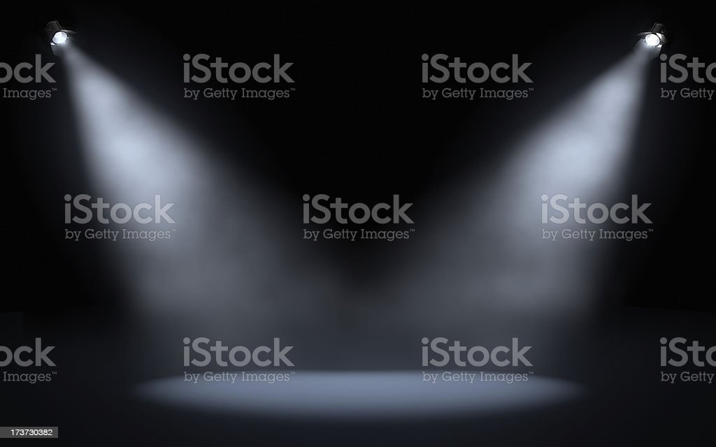 stage spotlights stock photo