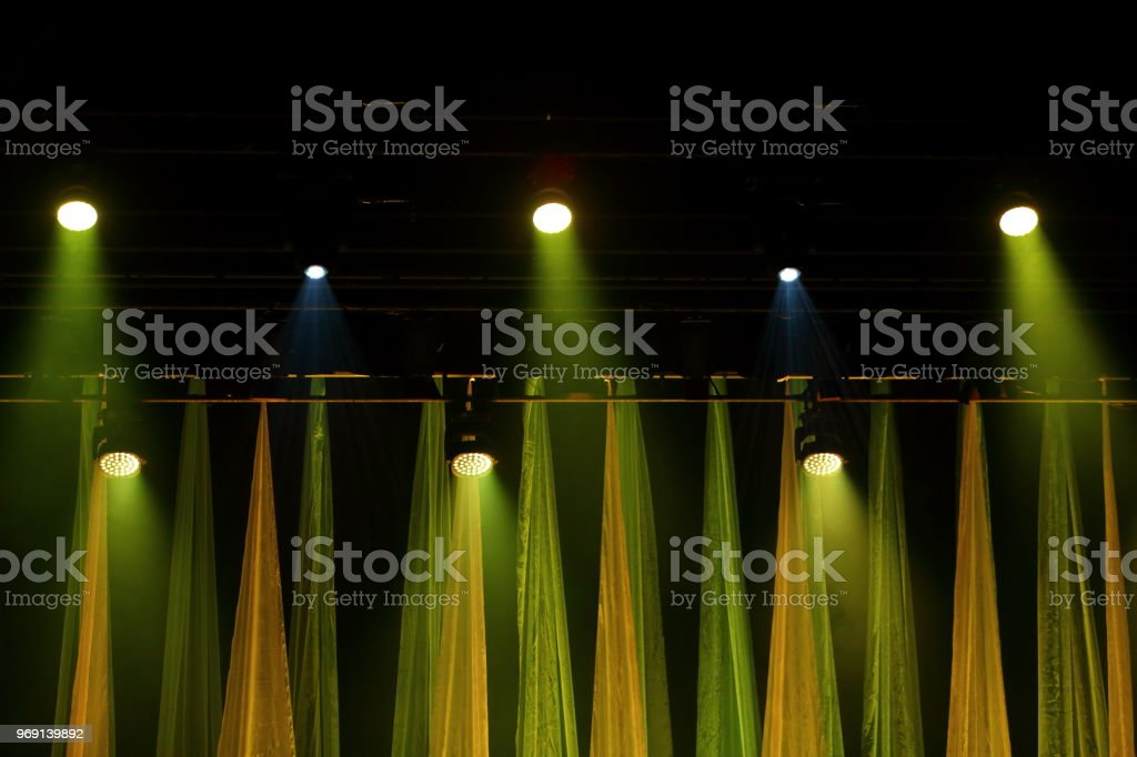 Professionally made lighting of the music scene is able to emphasize...