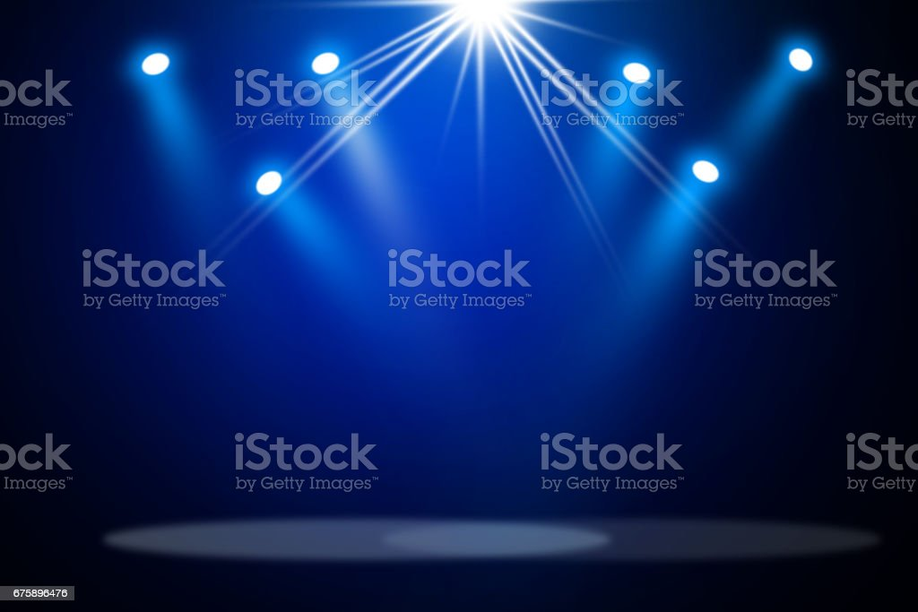 Stage theater background stock photo