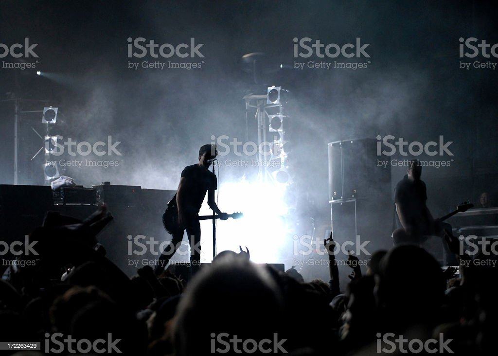 Stage view of an alive rock concert stock photo
