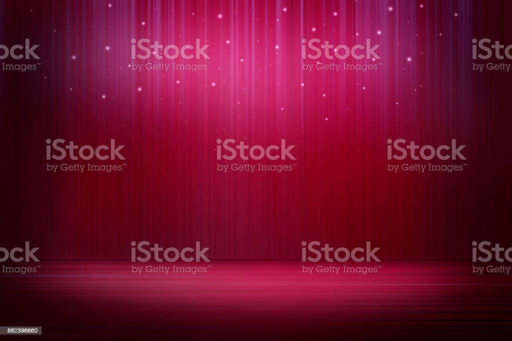 Stage with sparkling lights stock photo