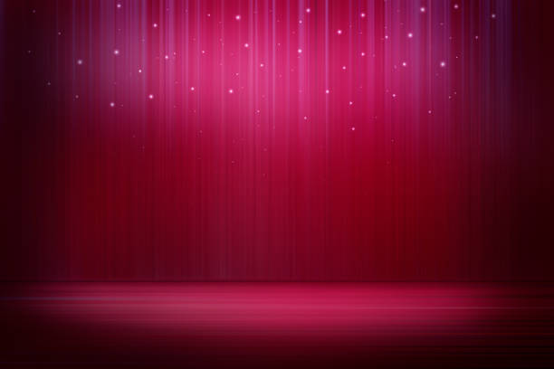 stage with sparkling lights - magician stock photos and pictures