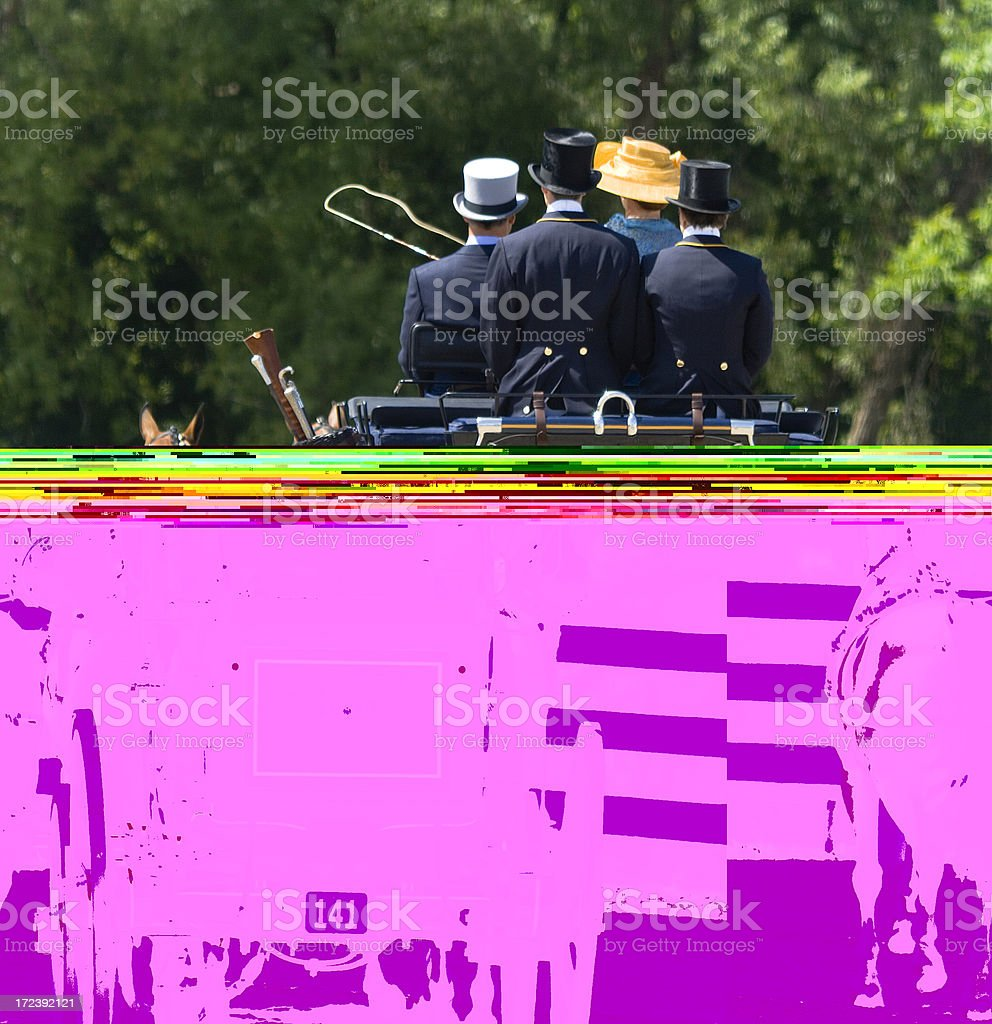 Stagecoach Caboose royalty-free stock photo