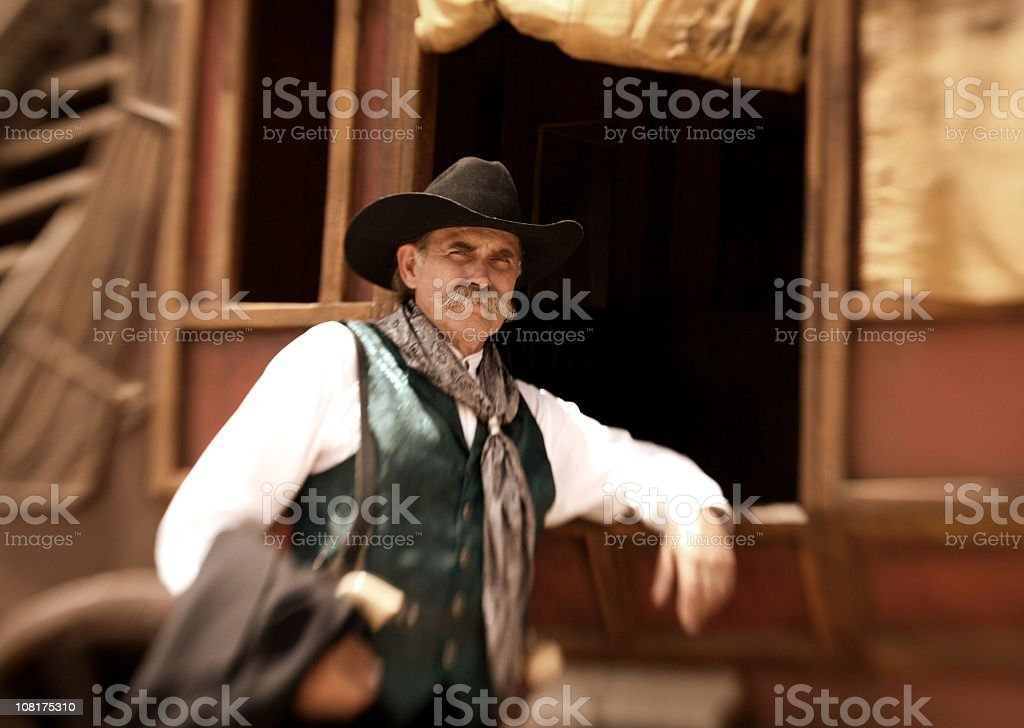 Stagecoach Driver stock photo