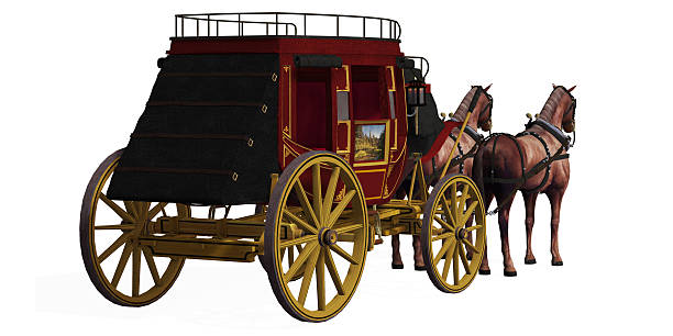 Stagecoach with Horses stock photo