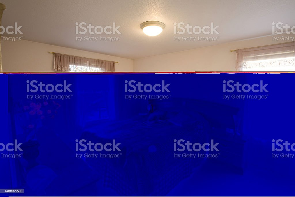 Staged bedroom royalty-free stock photo