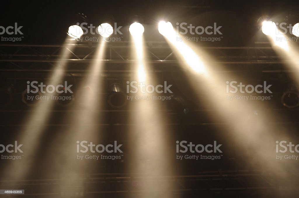 Stagelights stock photo
