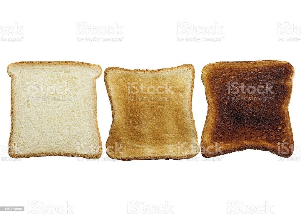 Stages Of Toast royalty-free stock photo
