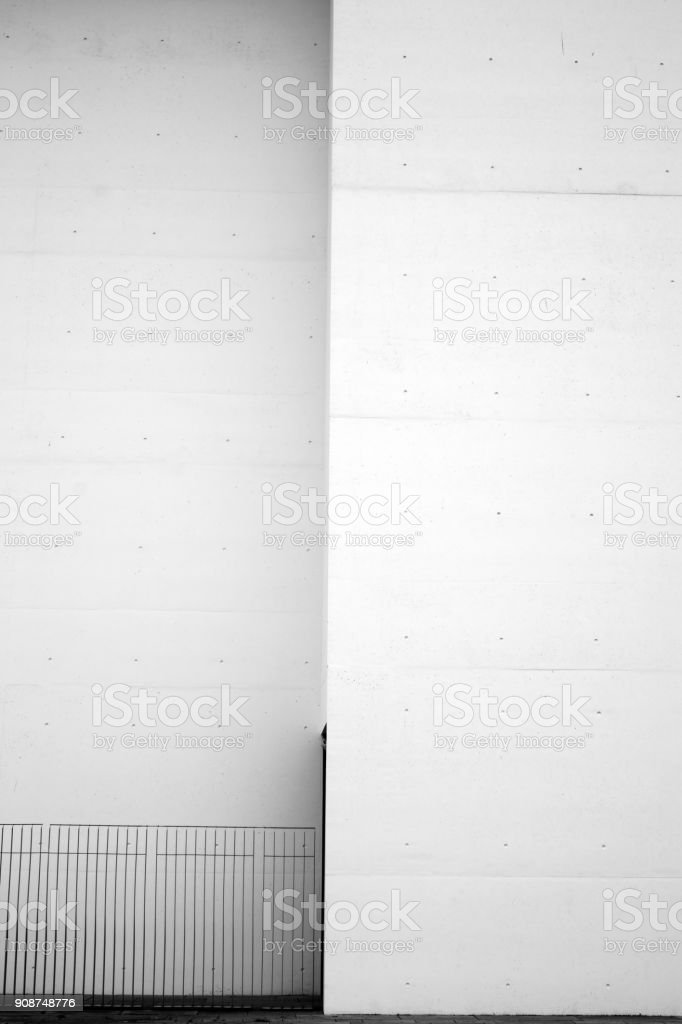 Staggered house wall stock photo