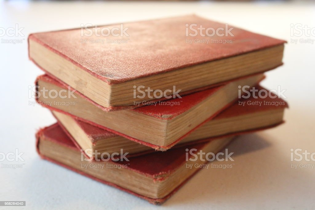 Staggered stack from book level stock photo