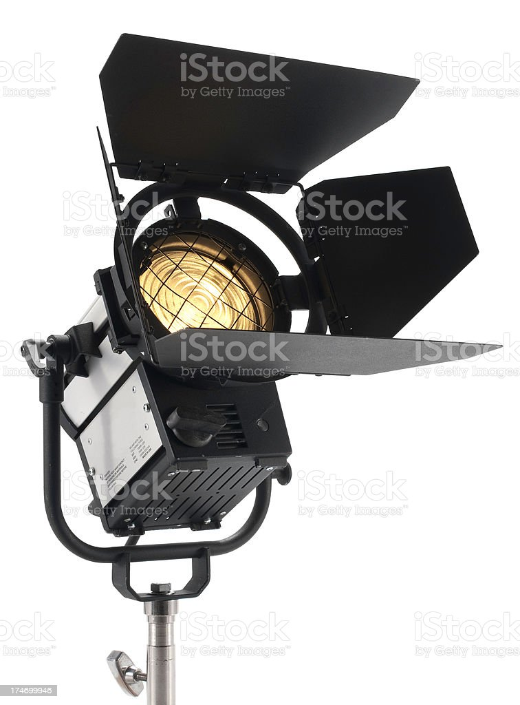 Staging black spot light for theatre royalty-free stock photo