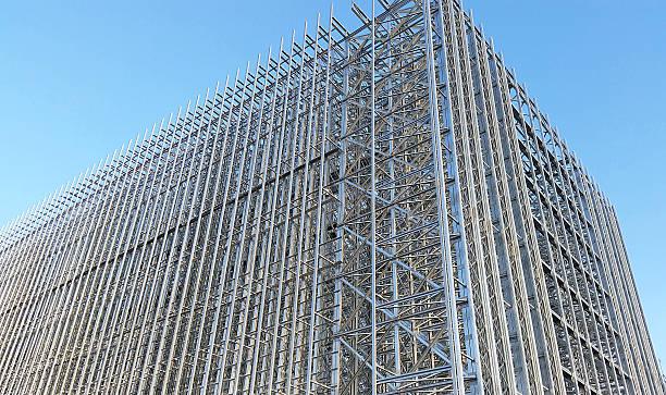 Stahlhochbau stock photo
