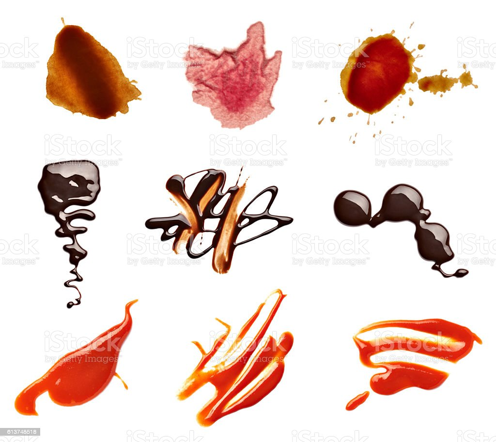 stain fleck coffee wine chocolate ketchup food stock photo