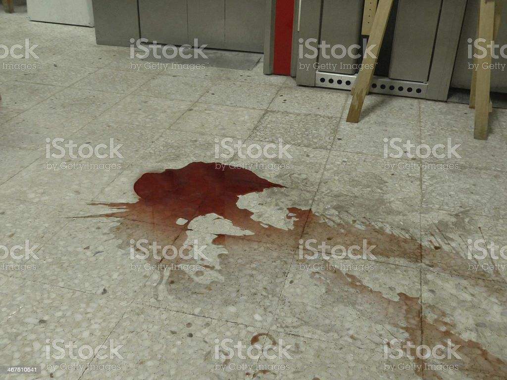 Stain on the floor stock photo