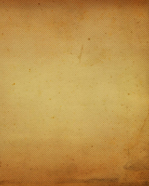stained antique paper with halftone stock photo