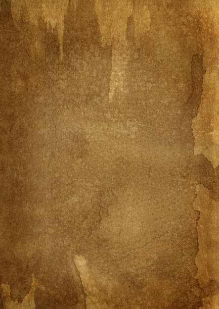 Stained brown paper texture stock photo