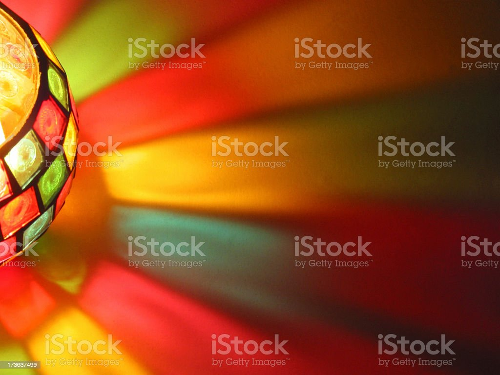 Stained Candle Light royalty-free stock photo