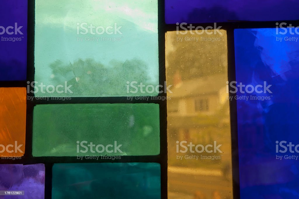 Stained class window in a church royalty-free stock photo