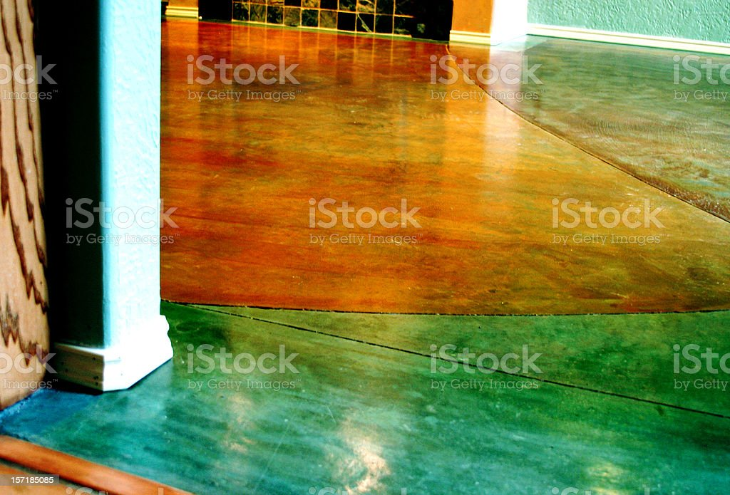 Stained Concrete Floor stock photo