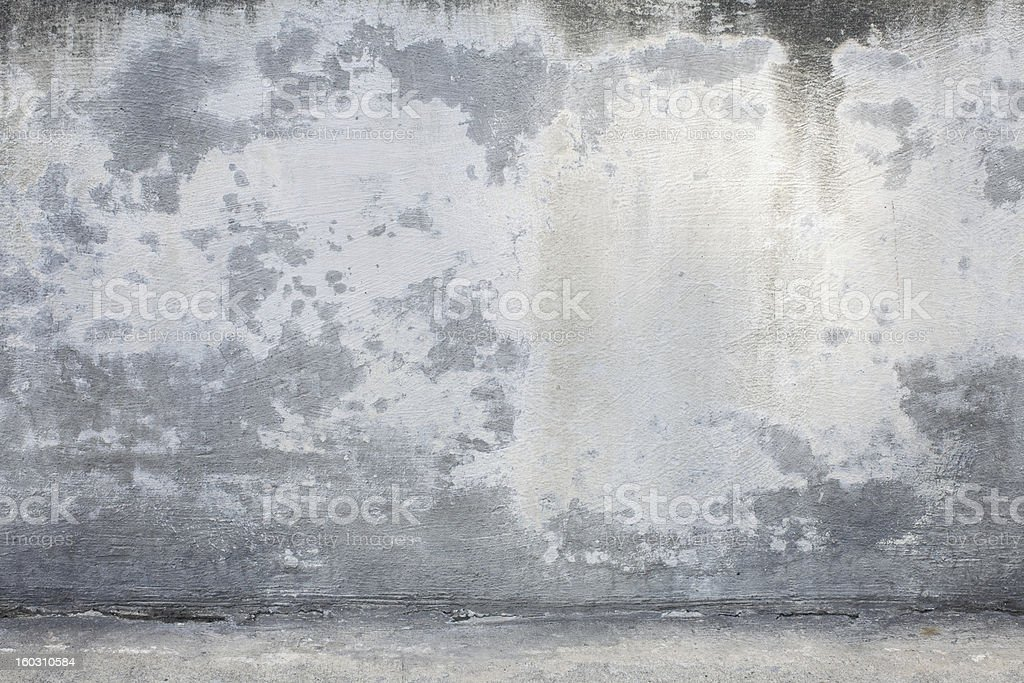 XXXL Stained Concrete Wall and Ground royalty-free stock photo