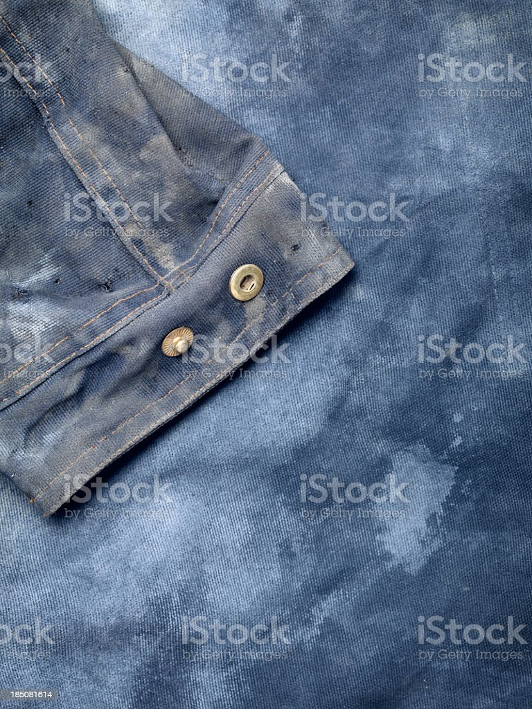 Stained denim stock photo
