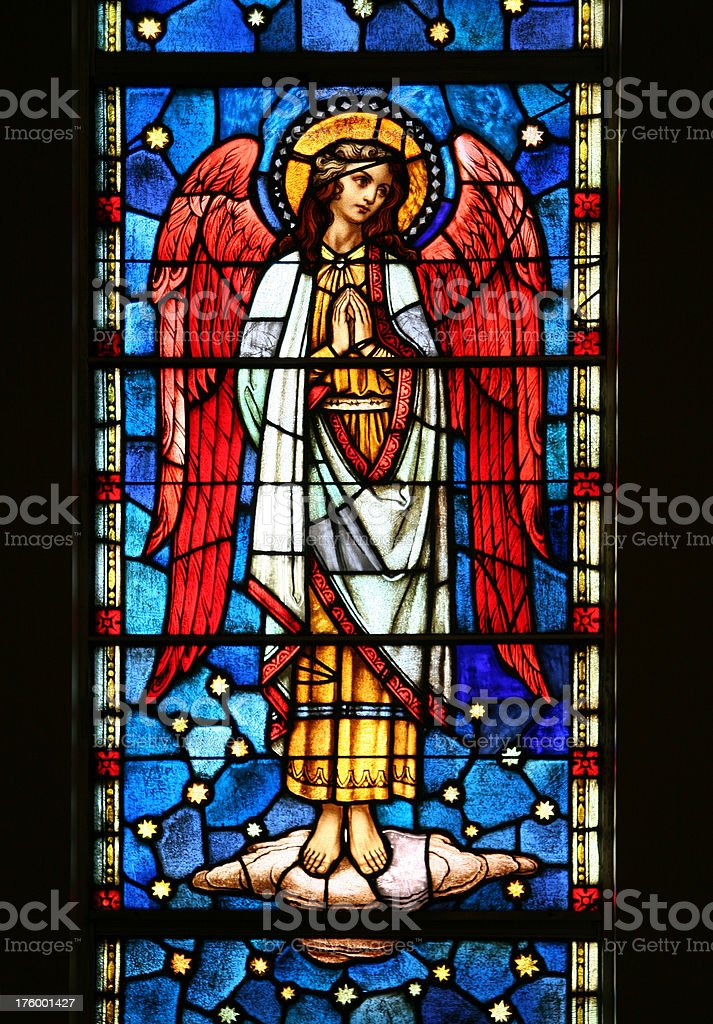 Stained Glass Angel royalty-free stock photo