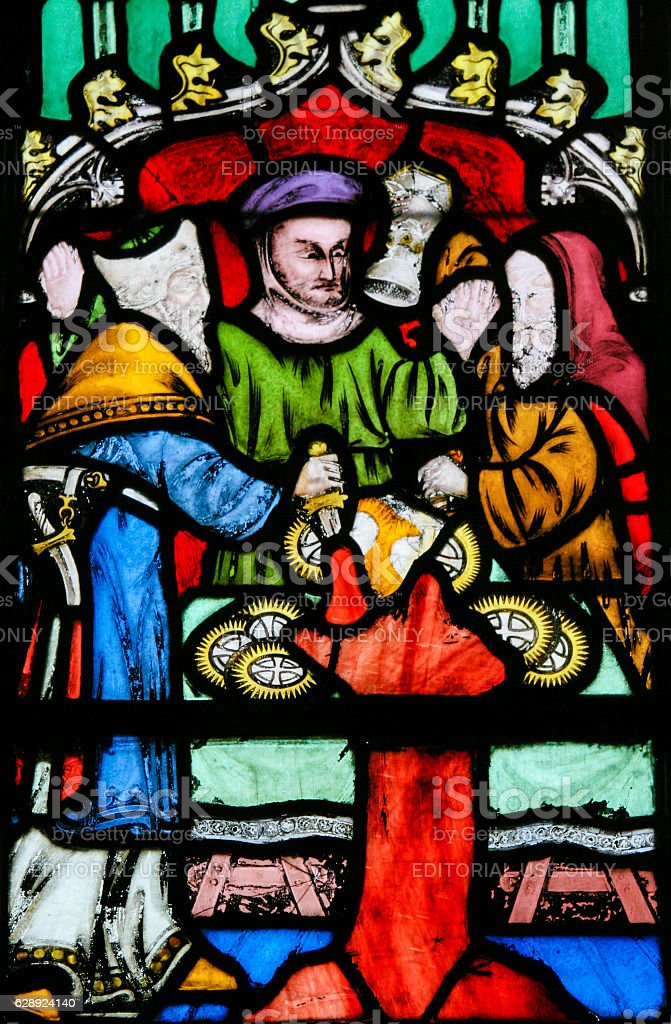 Stained Glass Antisemitic Legend Of Jews Stealing Sacramental Bread