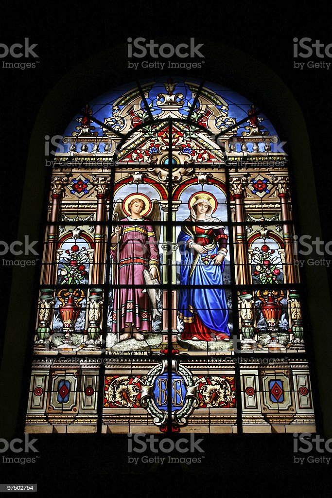 Stained glass art royalty-free stock photo