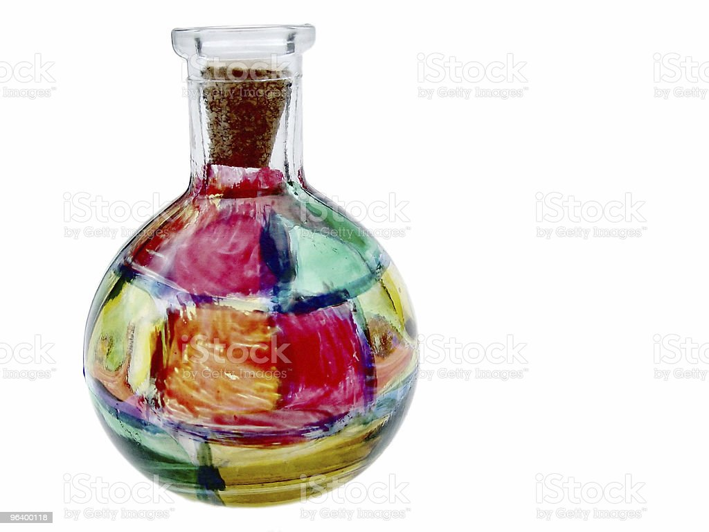 Stained Glass Bottle - Royalty-free Abstract Stock Photo