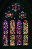 Stained glass Cathedral of Leon, Spain