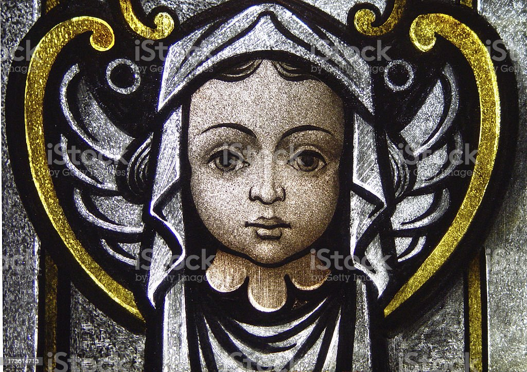Stained Glass Cherub royalty-free stock photo