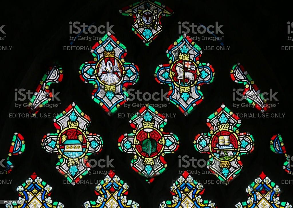 Vitral - símbolos cristãos - foto de acervo