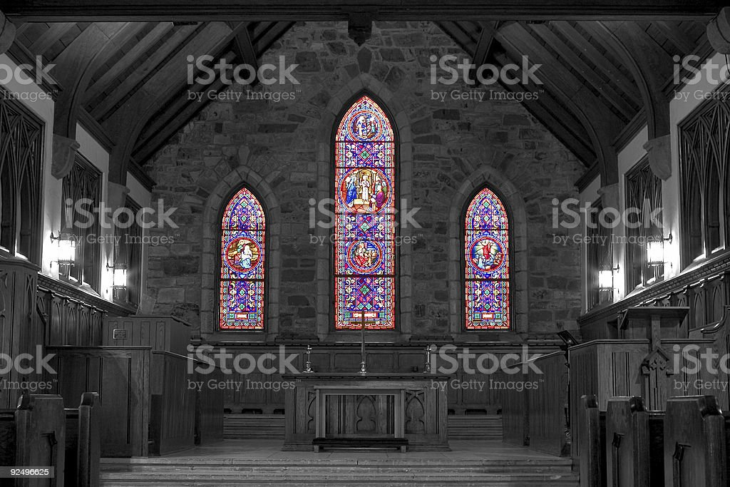 stained glass church royalty-free stock photo