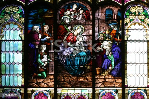 istock Stained Glass Church Window 179304321