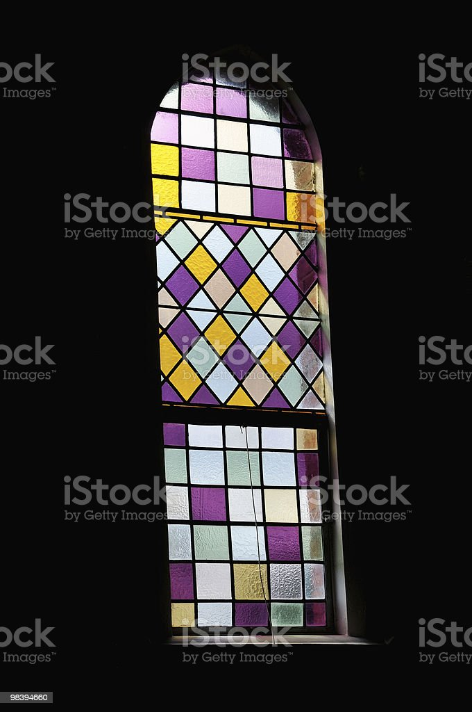 Stained glass church window royalty-free stock photo
